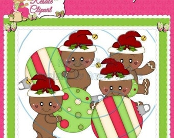 Ginger Ornament Christmas 2 Clipart (Digital Download)