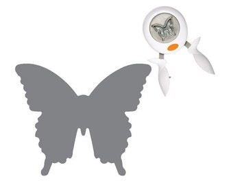 FLY AWAY BUTTERFLY  - Large Scalloped Circle Easy Squeeze Punch by Fiskars
