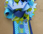 prince baby shower mum-baby shower corsage-corsage-prince theme