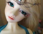RESERVED Etherial Elven Crystal Fairy Princess Circlet for BJD Ball Jointed Dolls
