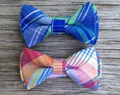 Rainbow Bowtie - Boy's Bow Tie - Bow Tie for Boys - Toddler Bow Tie - Blue and Green Tie - Red and Blue Tie - Ties for Newborn - Men's Ties