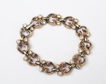 Vintage Gold Trifari Tennis Bracelet