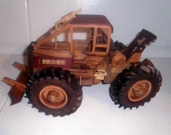 Deluxe Log Skidder Handcrafted Wooden