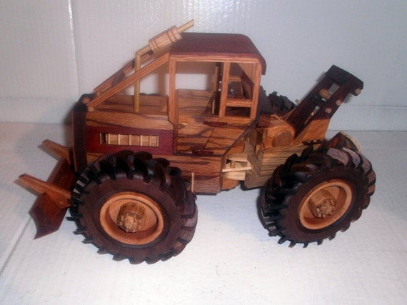 Wooden Toy Log Skidder : Deluxe log skidder handcrafted wooden