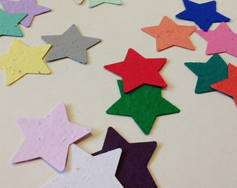 Plantable seed paper stars- 100 plantable seed paper stars - choose your color plantable star