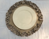 Set of 4 Burlap and Leopard Placemats Round Placemats