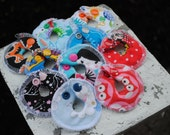 Ten Pack G Tube Pads -- CUSTOM Made -- Snaps on and off -- Serged Edges -- No Fray -- Very Absorbent -- Great Hospital Donation