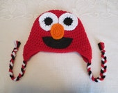 Elmo Inspired Crocheted Hat - Prop Prop - Available in 6 Months to Adult Size