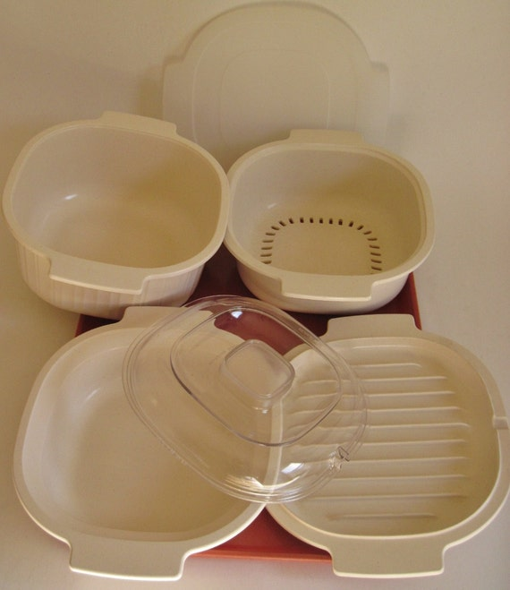 Rubbermaid Microwave Cookware Set 6 Piece Casserole Steamer