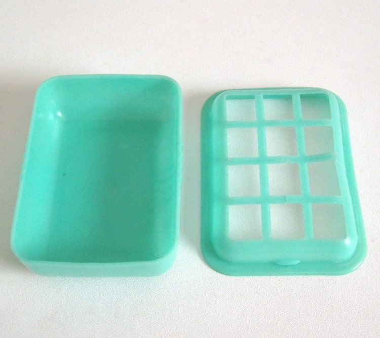 Turquoise Soap Dish Bathroom Kitchen Rubber By Lauraslastditch