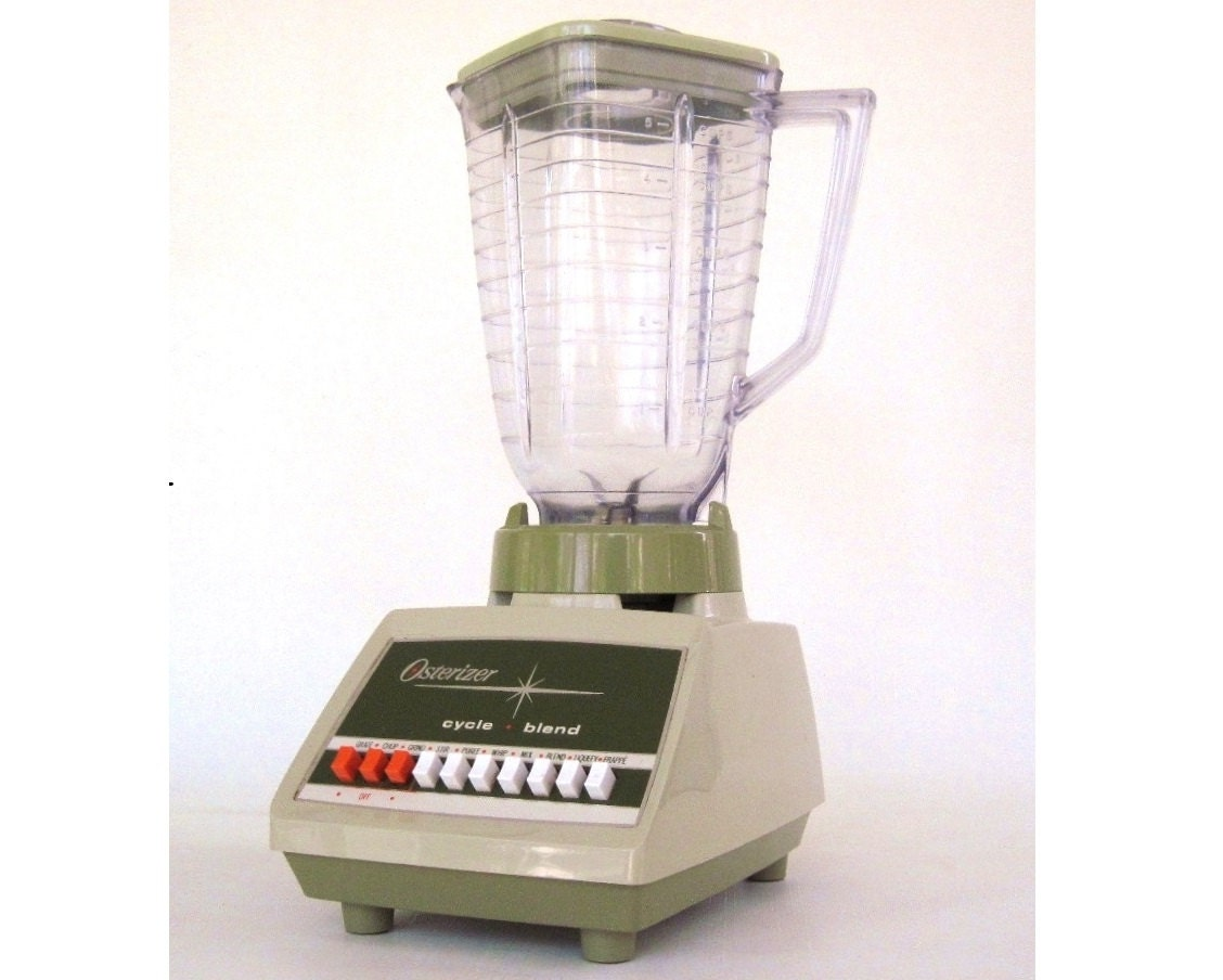 Osterizer Blender Oster Cycle Blend Avocado Green 1970s