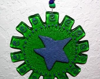 Medallion Green Recycled Bottle Glass