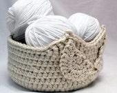 Crochet Pattern -- Owl Basket Two -- Crochet Pattern