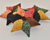 Fall Colors Star Decorative Pillows - Autumn Colors - Scrappy Tucks - Green - Red - Gold - Orange - Brown - Black - Home Decor - HHCOFG