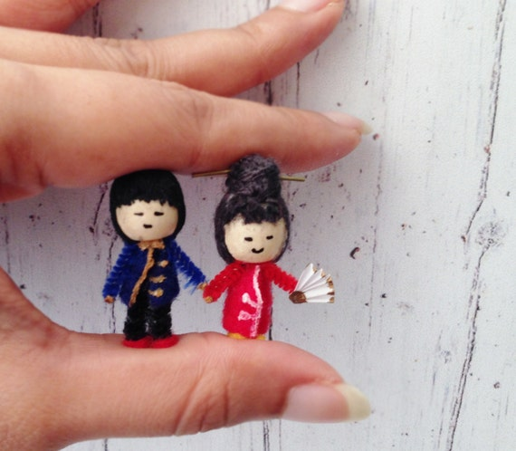 Miniature Chinese Boy Girl Couple Miniature Dolls Cute Kawaii