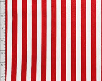 02994  - David Textiles  - Vertical stripes in red   -   1 yard