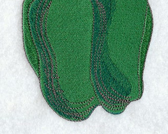 Snappy Bell Pepper Embroidered Flour Sack Hand/Dish Towel