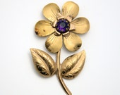 Vintage Large Flower Brooch Pin