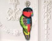 Bird Ornament in Fabric - Lory