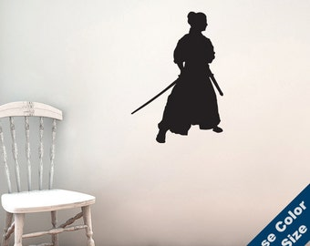Shogun-Samurai Wall Decal - Vinyl Sticker - Free Shipping