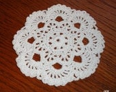 White Crocheted Mini Doily (Item 006)