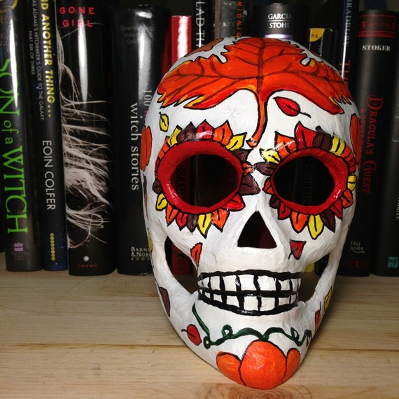 Autumn Day of the Dead Skull Mask