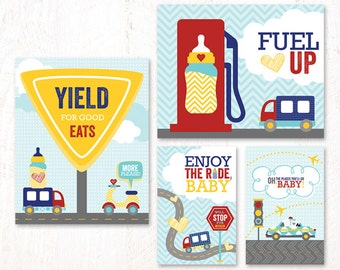 Cars & Airplanes Baby Shower - Instant Download PRINTABLE Party Signs