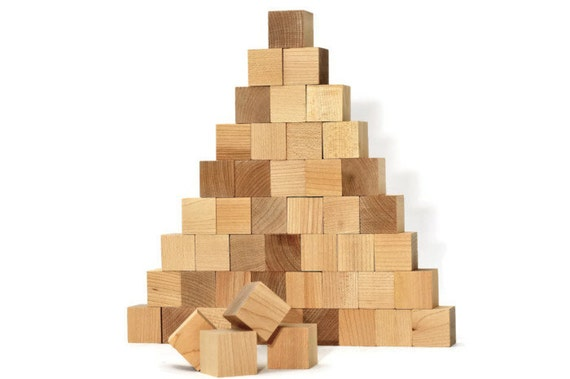 20 Unfinished Wooden Blocks 1x1 Inch Wood Cube Square Pine
