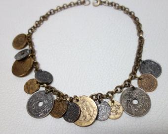 MONET Rare Coin Choker Necklace