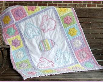 Sugar Bunnies Baby Rag Quilt