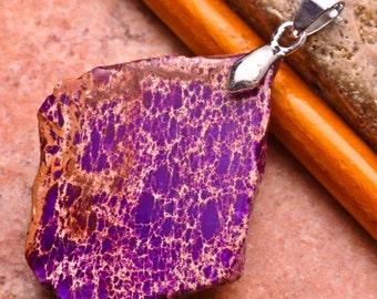 Purple Sea Sediment pendant (J231).