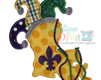Mardi Gras Louisiana Digital Embroidery Design Machine Applique