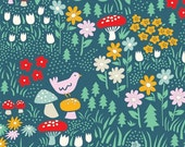 Custom Listing for Kylie - Everyday Party - Meadow Floral - Organic Cotton Print from Birch Organic Fabric - 2.5 yards