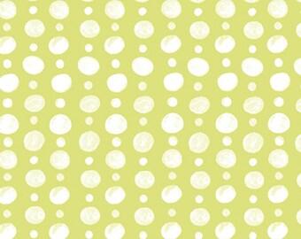 SALE - Monaco - Doubledot Green - Organic Cotton Print Fabric from Monaluna
