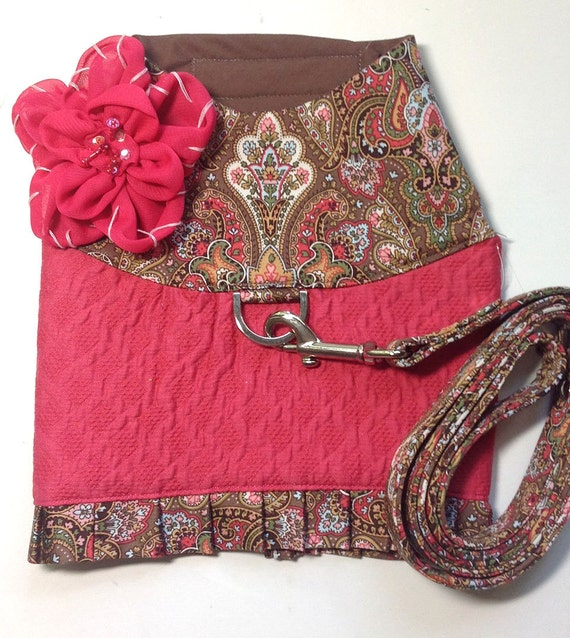 Posh Paisley harness vest and matching leash