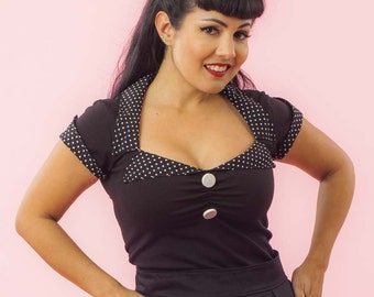 Tailored Top / Retro / Rockabilly/ Vintage/ Pin Up