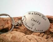 Personalized Dad Key chain - Daddy Key chain - Father's Day Gift - Custom keychain