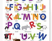 Animal Alphabet A2 Colour Poster