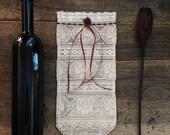 Wine bag, Bottle Lace Gift Bag, Wedding Wine