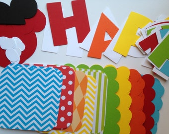 DIY Mickey Mouse Clubhouse Birthday Banner Kit
