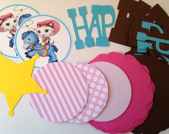 DIY Sheriff Callie Birthday Banner Kit