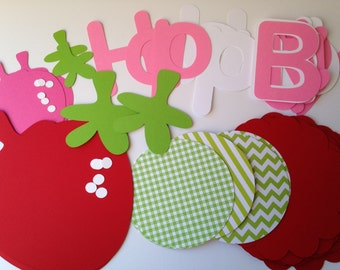 DIY Strawberry Birthday Banner Kit