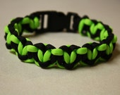 Heart Paracord Cobra Weave Anklet/Bracelet With Curved Buckle - Custom Made To Your Wrist or Ankle In Your Choice Of Colors