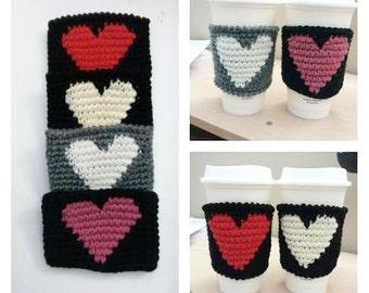 Set of 4 Crochet Heart Cup Holders( 7.99 each)