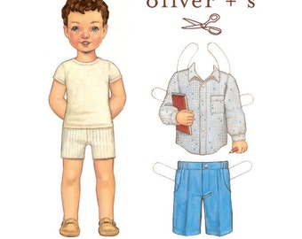 Sketchbook Shirt and Shorts by Oliver & S, size 5 - 12