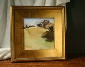 Original oil painting, Framed Landscape painting, Autumn landscape, Fall colors, gold frame
