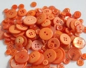 Orange Buttons - Bag of Buttons