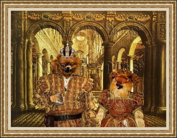 Pomeranian Fine Art Canvas Print by Nobility Dogs