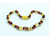 Baltic Amber Teething Necklace - Multicolor Amber Variety - Made in Canada