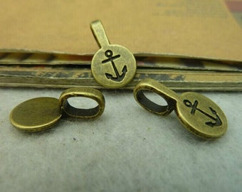 20pcs 10x17mm Antique  Bronze Smaller Alloy Jewelry Bails- Great For Scrabble Tile Pendants And Glass Pendants C4036